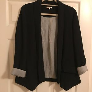 Black blazer lined with pinstripes